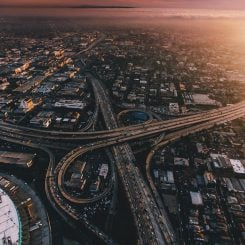 Los Angeles Aerial Highway By Ladybaguette