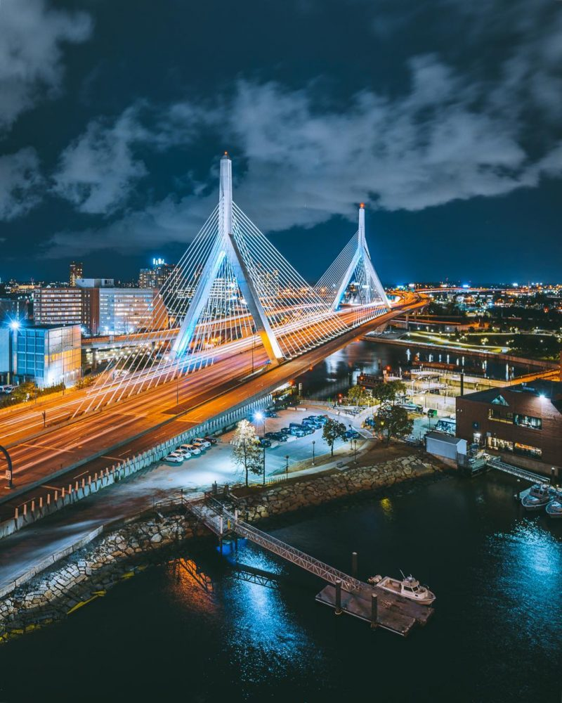 Leonard P Zakim Bridge By Chris Rocco