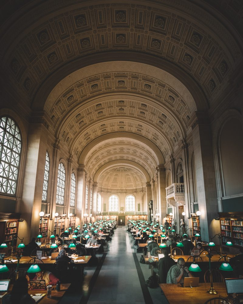 Main Hall of the Boston Public Library