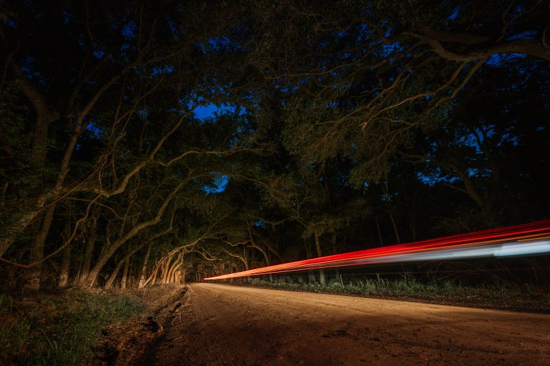 Botany Bay Road Light Trail