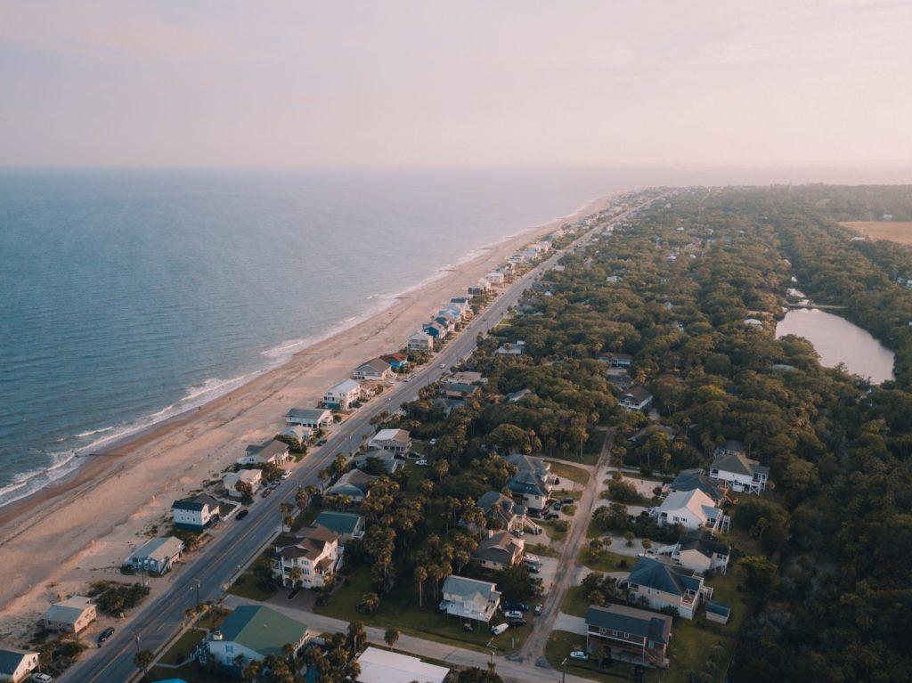 Edisto Island Drone Sunset