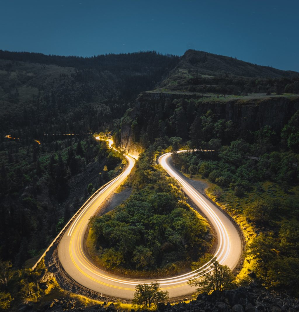 Rowena Crest Viewpoint Long Exposure