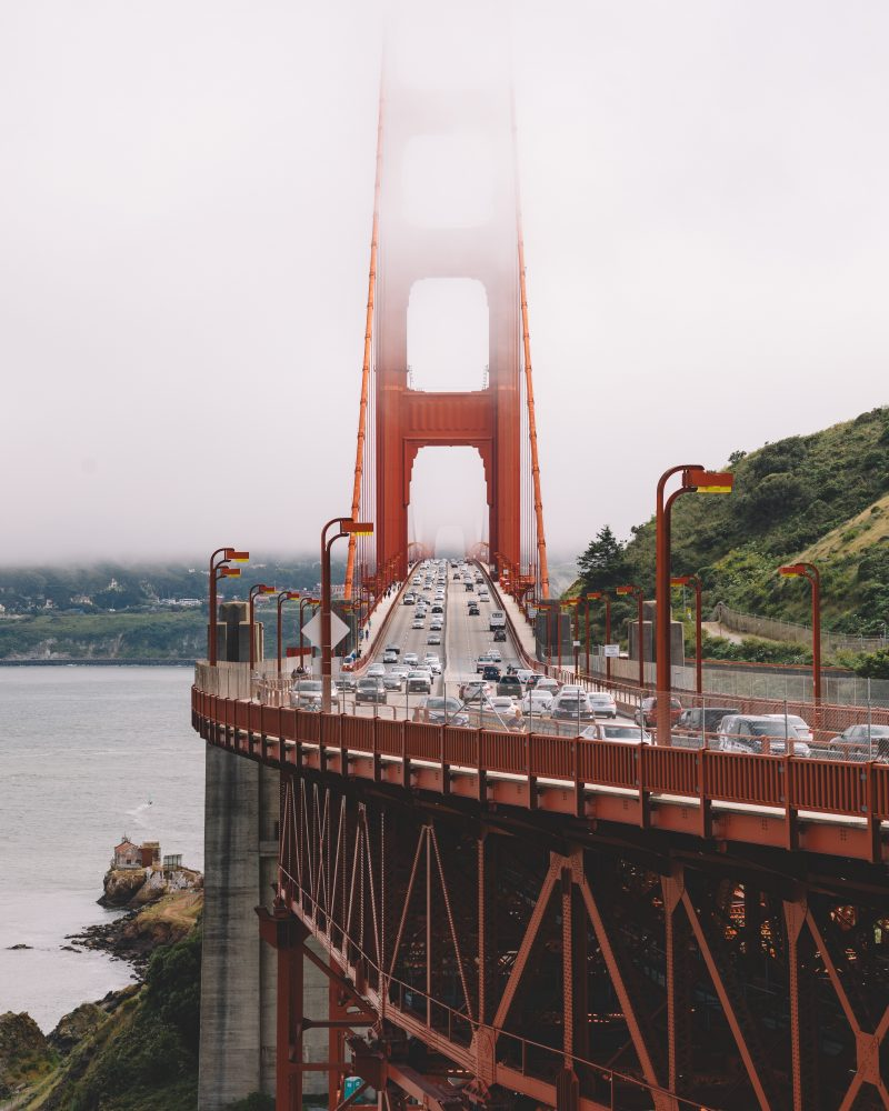 Golden Gate Bridge Foggy