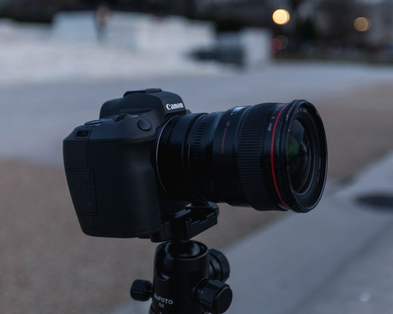 Canon EOS R On Tripod