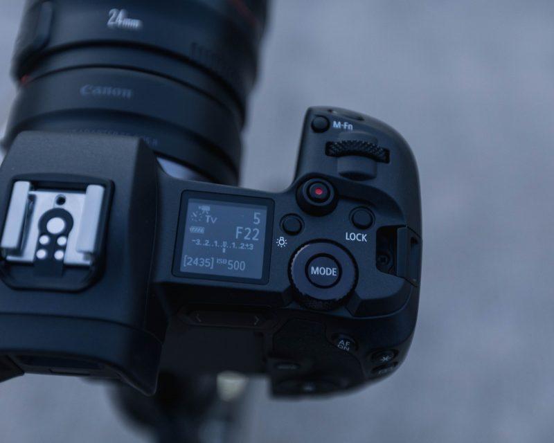 Canon Eos R Top Controls