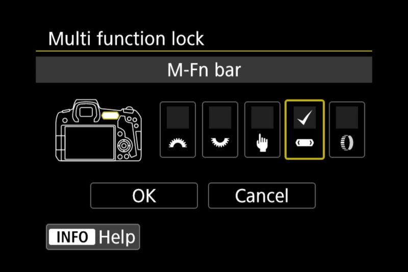Canon Eos R Menu Multi Function Lock