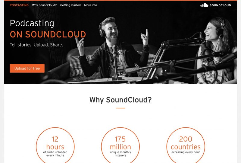 Podcasting With Soundcloud Homepage