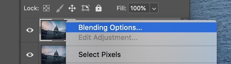 Photoshop layer blending options