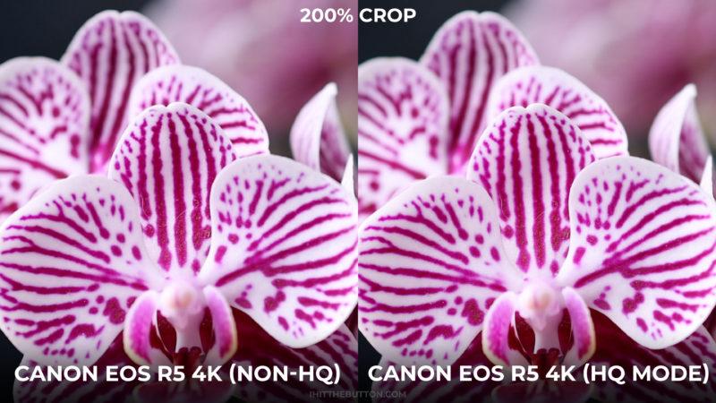 Canon EOS R5 4k vs 4k HQ mode